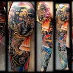 Mind Blowing Mortal Kombat Full Sleeve Tattoo [pic]