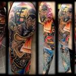 Mind Blowing Mortal Kombat Full Sleeve Tattoo [pic]