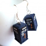 3D TARDIS Earrings [pic]