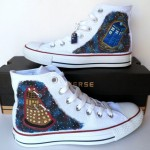 Doctor Who Converse TARDIS and Dalek Shoes [pic]