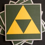 Legend of Zelda Triforce Drink Coasters [pic]