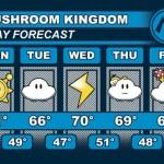Mushroom Kingdom 5 Day Weather Forecast [pic]