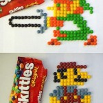 8-Bit Mario and Link Made from Skittles [pic]