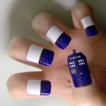 TARDIS Fingernail Art [pic]