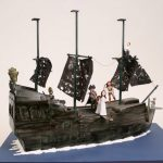 Pirates of the Caribbean Black Pearl Cake [pics]