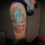 R2-D2 and Humpty Dumpty Sitting on a Wall Tattoo [pic]