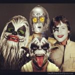 Star Wars Characters in KISS Face Paint [pic]