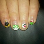 Super Mario Bros Fingernail Art [pic]