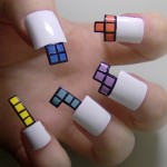 Tetris Fingernail Art [pic]