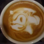 Sonic the Hedgehog Latte Art [pic]