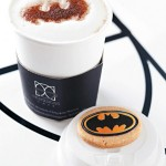 Batman Cappuccino and Batcookie [pic]