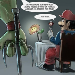 Super Mario Has the Attention of the Teenage Mutant Ninja Turtles [pic]