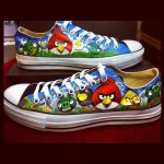 Hand-Painted Angry Birds Shoes [pic]