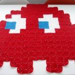 Pac-Man Blinky Ghost Crochet Blanket [pic]