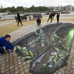 Amazing 3D Teenage Mutant Ninja Turtles Street Art [pic]