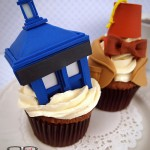 Doctor Who TARDIS and 11th Doctor Cupcakes [pic]