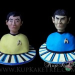 Stellar Star Trek Sulu and Spock Cakes [pic]