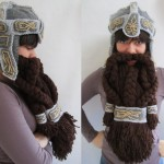Crochet Dwarf Helm and Beard [pic]