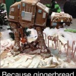 Gingerbread AT-AT Because Gingerbread Houses Are Just Too Mainstream [pic]