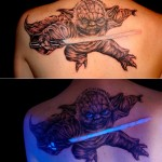 This Yoda Tattoo Glows Under a Black Light [pics]