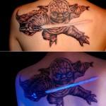 This Yoda Tattoo Glows Under a Black Light [pics]