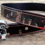 Super Mario Bros Final Level Leather Belt [pic]