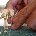 Mini Star Wars AT-ST Models Made from Popsicle Sticks [pic]