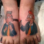 These Futurama Feet Tattoos are Cool!