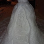 Batman Snow Sculpture