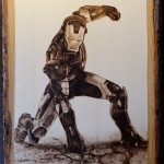 This Iron Man Wood Burning is Mind Blowing!