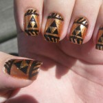 Legend of Zelda Triforce Fingernail Art