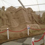 This Doctor Who 50th Anniversary Sand Sculpture is Fantastic!