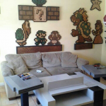 Amazing Nintendo NES Themed Living Room