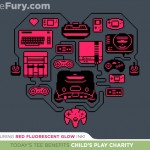 Retro Gamer Heart Tee $11 Today Only and Benefits Child's Play Charity