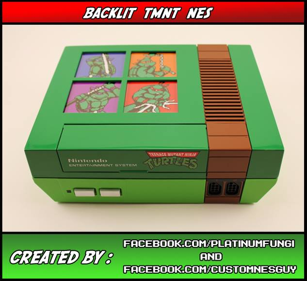 NES Controller Earrings [pics]  This Back-lit Teenage Mutant Ninja Turtles  NES Mod is Spectacular!