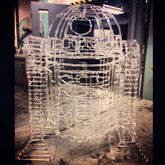 Glass R2-D2