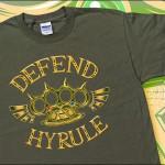Legend of Zelda Defend Hyrule Brass Knuckles T-Shirt