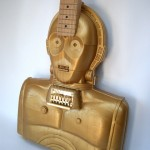 Handmade Electric C-3PO Star Wars Guitar