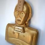 Handmade Electric C-3PO Star Wars Guitar