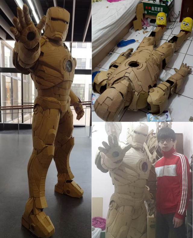 Cardboard Iron Man Suit