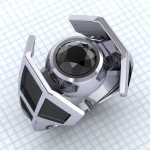 Awesome Star Wars X-Wing and TIE Fighter Engagement Ring Designs