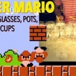 Super Mario Bros Theme Played on Wine Glasses