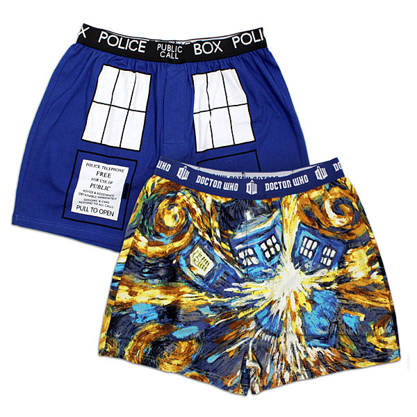 Doctor Who TARDIS Boxers