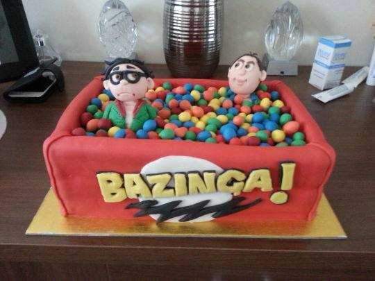 Big Bang Theory Bazinga Ball Pit Cake
