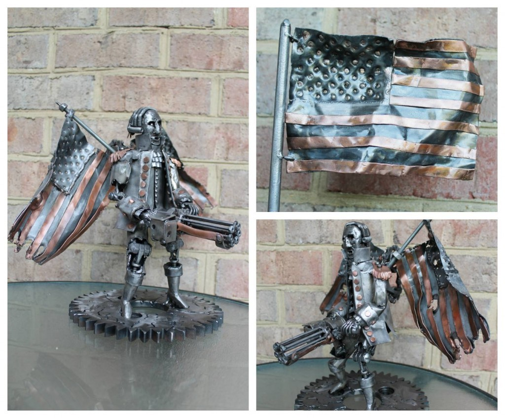 Bioshock Infinite Metal Patriot Sculpture