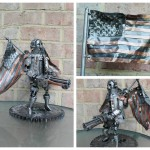 Amazing Fan Metal Made Bioshock Infinite Patriot Sculpture