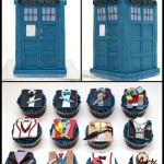 TARDIS Cake and Fantastic Doctor Who Costume Cupcakes