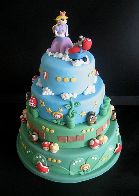 Super Mario Bros Wedding Cake By Naera
