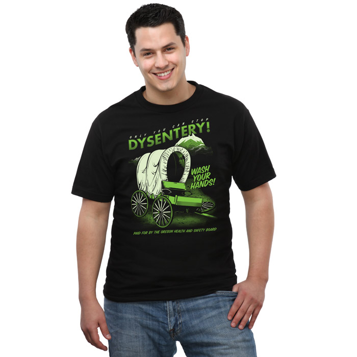 Oregon Trail Dysentery Awareness T-Shirt