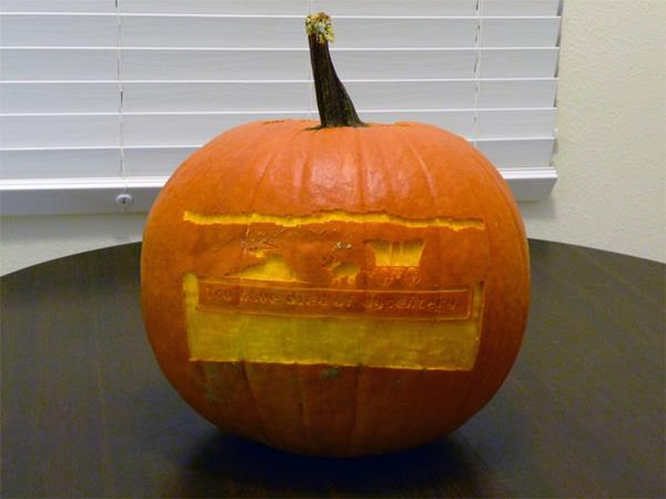 Oregon Trail Pumpkin Carving